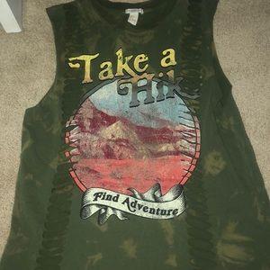 "Green ""Take a Hike"" tank!"